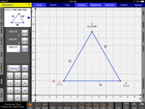 Triangle Input Menu